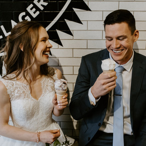Village Ice Cream Elopement - Calgary Wedding Photographer
