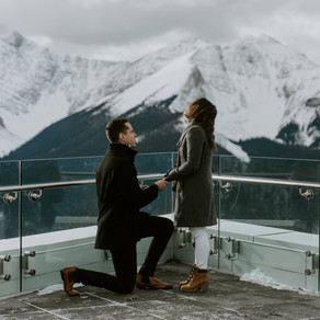 The Sweetest Banff Gondola Proposal Ever