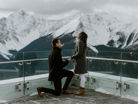 The Sweetest Banff Gondola Proposal Ever