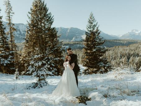 Stunning Winter Elopement in Banff | Banff Wedding Photographer & Videographer