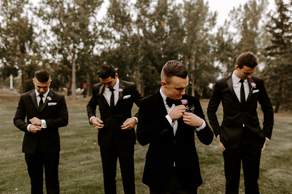 groomsmen meadow muse wedding