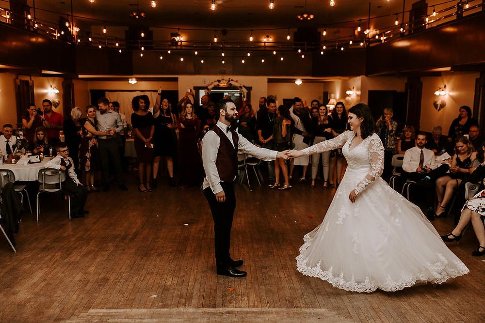 first dance east delta hall wedding