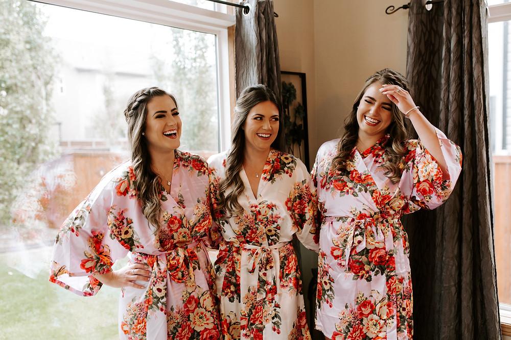 calgary wedding bridesmaids robes