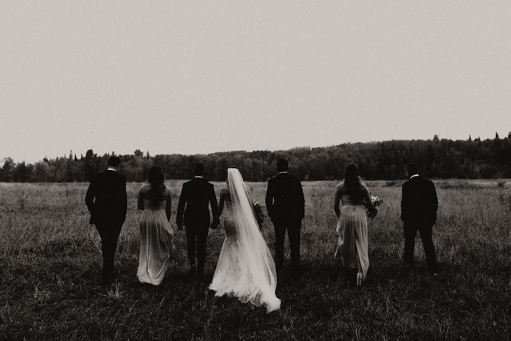 bridal party meadow muse wedding