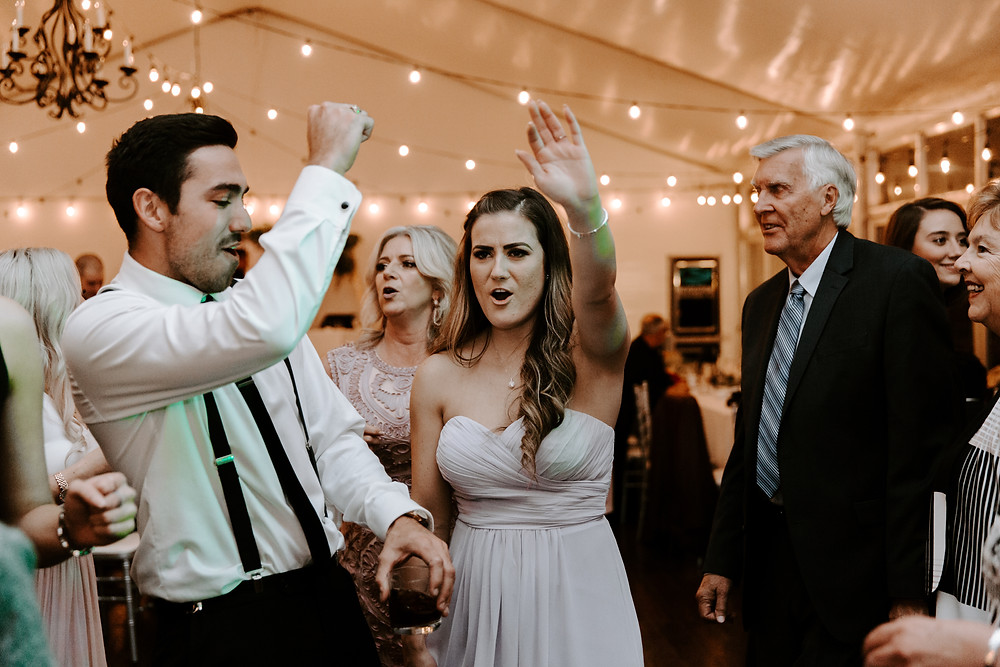 people dancing at Meadow Muse wedding reception