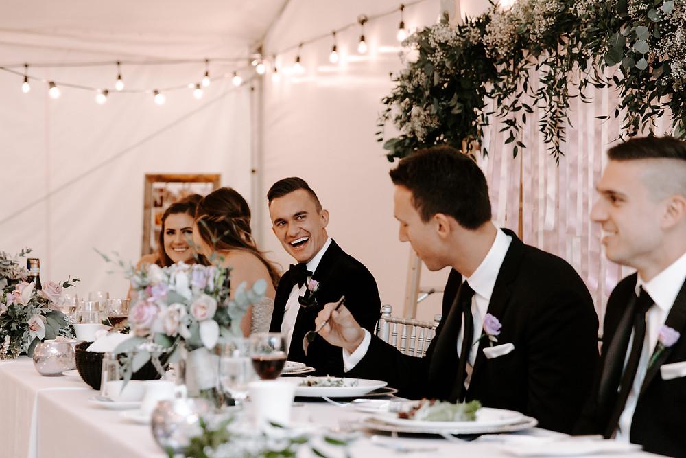 reception speeches meadow muse wedding