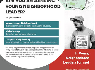Summer Youth Employment Opportunity - Benton Park West, Gravois Park, Dutchtown