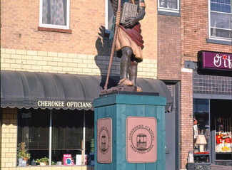 Throw Back Tuesday: Cherokee Indian Statue