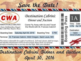 Destination Cabrini: Dinner and Auction