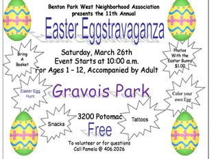 Easter Eggstravaganza, Saturday, March 26, 2016