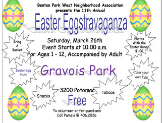 Easter Eggstravaganza, Saturday, March 26, 2016