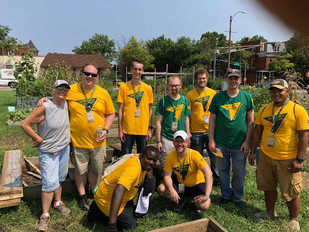 After the Party: Community Garden Volunteers