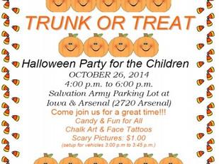 Trunk or Treat - Volunteers Needed!