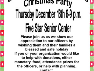 3rd District Police Officer's Christmas Party, Dec. 18, 2014