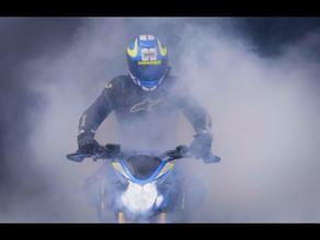 Vidéo d'un show laser sur une moto