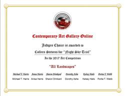 Judges Choice Certificate
