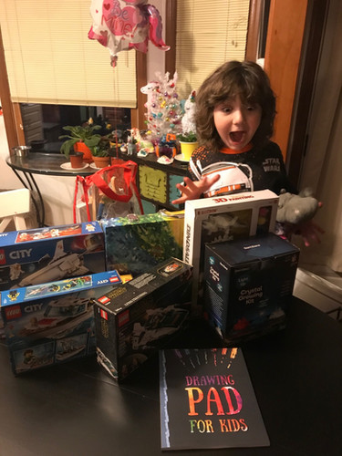 Lil' guy was stoked!