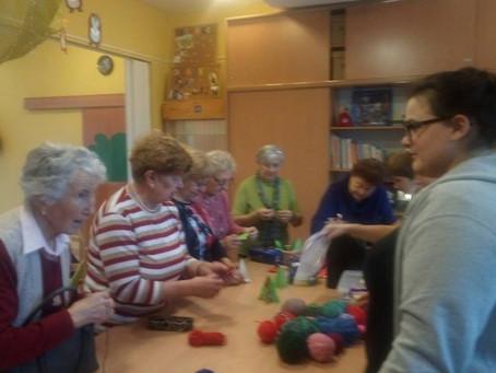 Kreatív délután a nyugdíjasokkal