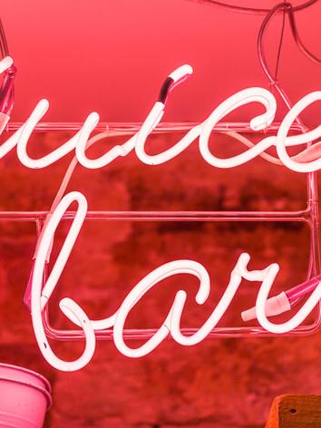 Juice bar sign