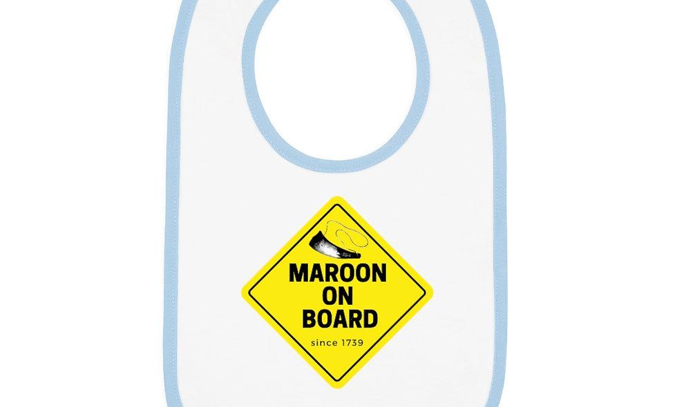 MAROON ON BOARD BABY Bib