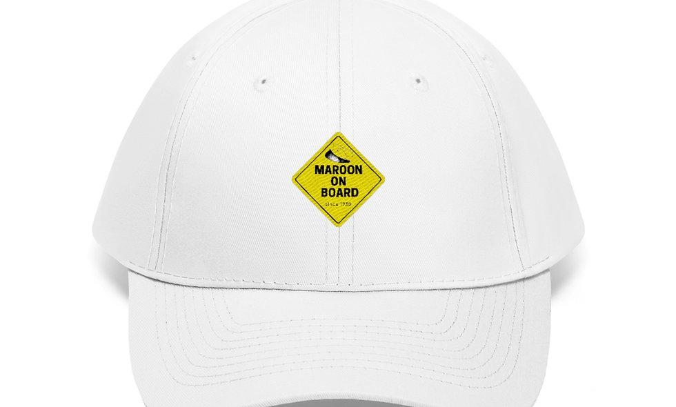 MAROON ON BOARD Twill Hat
