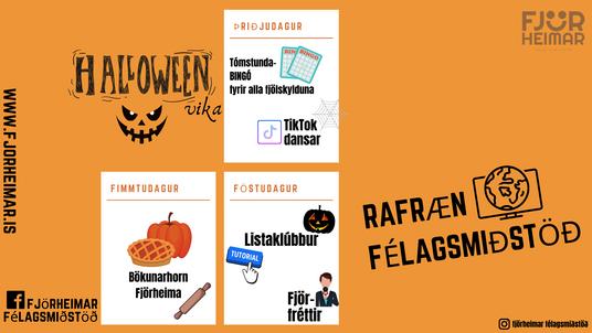 Rafræn félagsmiðstöð - Halloween vika, 5.-7. bekkur