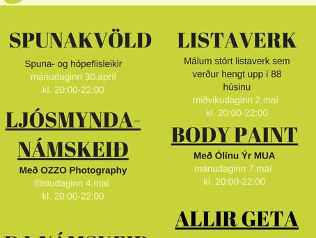 Listahátíð barna: Dagskrá Fjörheima