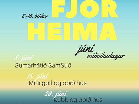 Sumardagskrá Fjörheima fyrir 8.-10.bekk