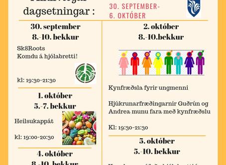 Heilsu- og forvarnarvika á Suðurnesjum - Dagskrá Fjörheima