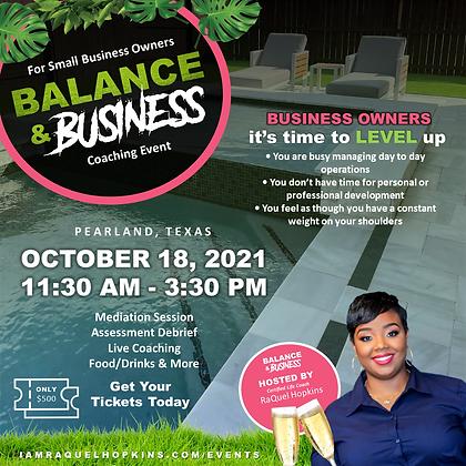 Balance & Business Event