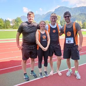 Erfolgreiche Masters-Leichtathleten der Sparkasse Sportgemeinschaft Götzis