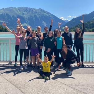 Team Turner der Sparkasse Sportgemeinschaft Götzis in luftigen Höhen