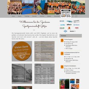 Die neue Homepage der Sparkasse Sportgemeinschaft Götzis ist online!