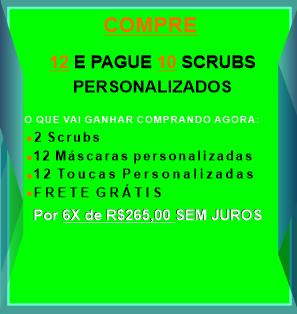 12 E PAGUE 10 BLUSAS CIRURGICA/SCRUBS PERSONALIZADAS