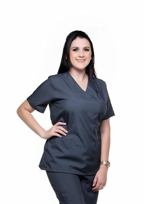 Blusa Cirúrgica Lisa 026. Preta. Pronta Entrega T: 2PP 2G 1GG 1EG