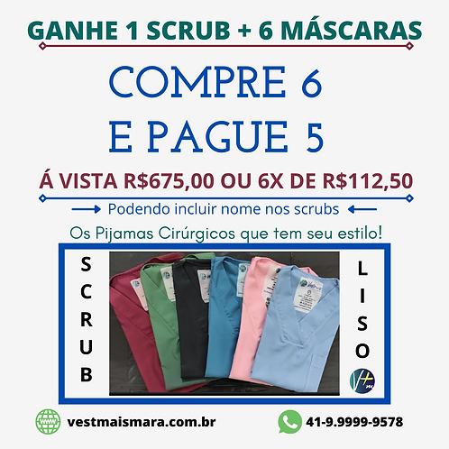 COMPRE 6 E PAGUE 5 Blusas/Scrub Cirúrgicos Lisos