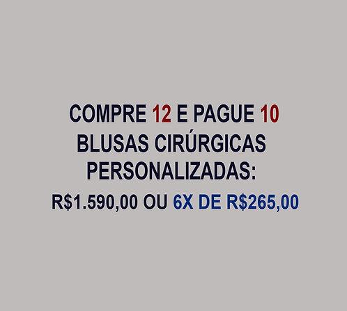 12 e pague10 Blusas Cirúrgicas/Scrubs Personalizadas