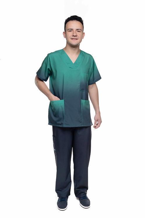 Conjunto (Blusa e Calça) Degradê VM027 Ganha 1 Mascara e Nome/Profissão
