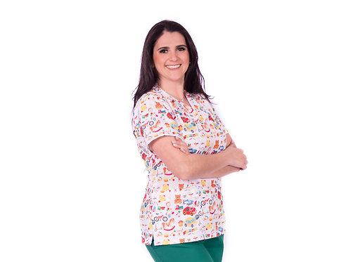 Blusa Cirúrgica VM02 Pediatra Ganha 1 Mascara e Nome/Profissão