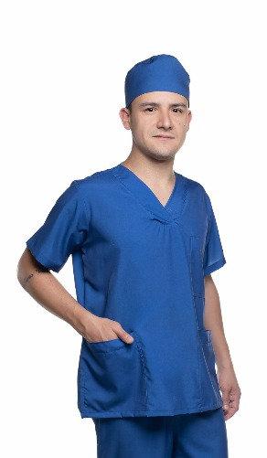 Blusa cirúrgica/Scrub Liso 014 Ganha 1 Máscara e Nome/Profissão