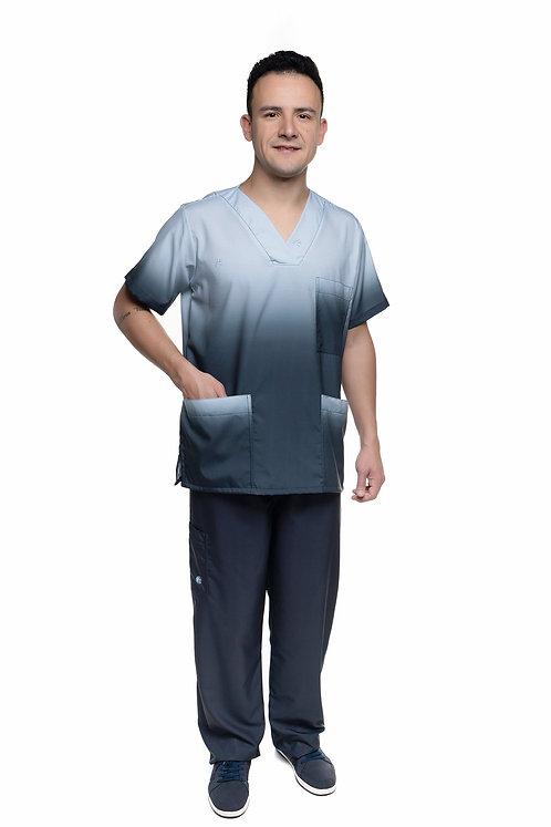 Conjunto (Blusa e Calça) Degradê VM038 Ganha 1 Mascara e Nome/Profissão