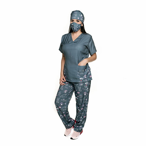 Conjunto (Blusa e Calça) 010CG. Ganha 1 Mascara e Nome/Profissão