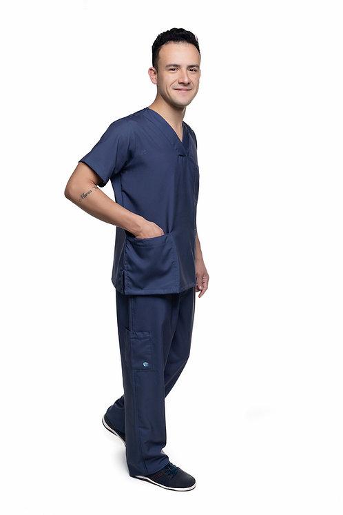 Conjunto (Blusa e Calça) Azul Marinho 003 Ganha 1 Mascara e Nome/Profissão