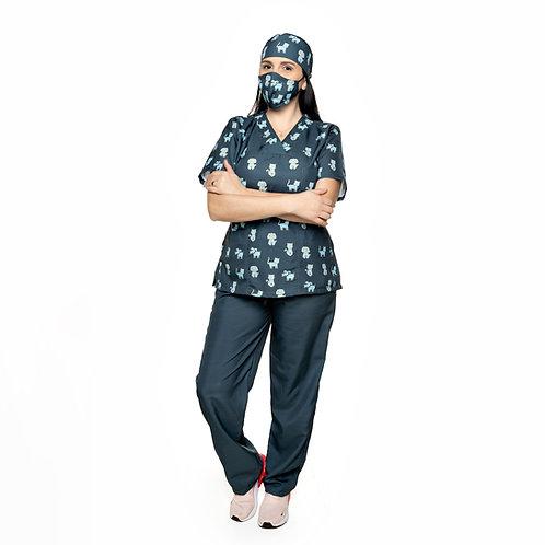Conjunto (Blusa e Calça) 039CG. Ganha 1 Mascara e Nome/Profissão