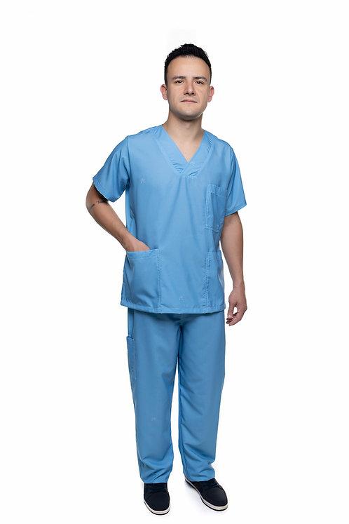 Conjunto (Blusa e Calça) Azul Celeste 007 Ganha nome e profissao