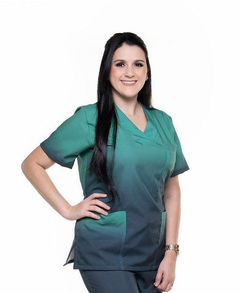 Blusa Cirúrgica Degradê 027 Ganha nome e profissao