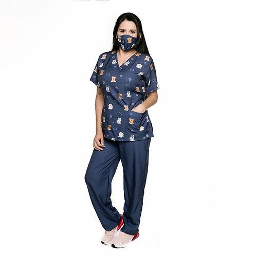 Conjunto (Blusa e Calça) 033C Ganha 1 Mascara e Nome/Profissão