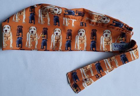 Touca unissex - laranja de cachorros. Pronta Entrega.
