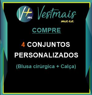 4 CONJUNTOS PERSONALIZADOS (BLUSA CIRURGICA+CALÇA)