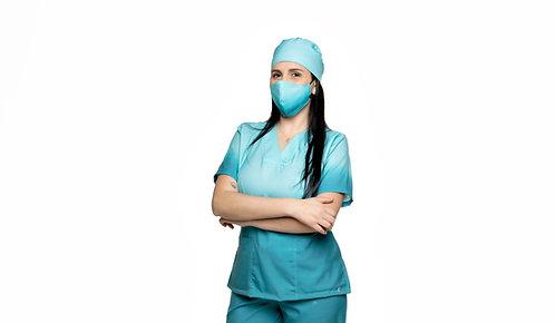 Blusa cirúrgica/Scrub VM051 Degradê. Ganha 1 Máscara e Nome/Profissão